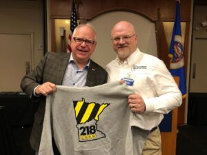 Governor Tim Walz and Dave Cook from NEMOJT 218trades